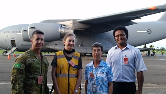 Wash supplies for Tropical Cyclone Winston in Pacific