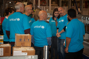 Donor visit to UNICEF SD
