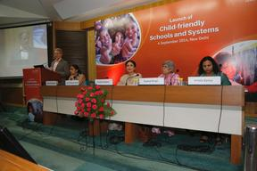 Unicef celebrity advocate Kareena Kapoor launches child friendly school package.