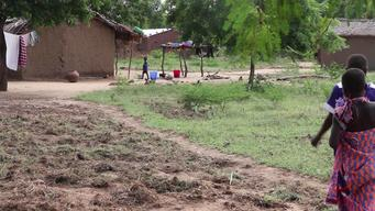 12722 Malawi Floods Survivors Leave Camps BROLL HD PAL