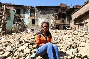 Earthquake-affected people in Lalitpur – Nepal – 2015