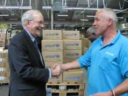 DENMARK 2010 Visit to Supply Division by  UNICEF Executive Director Anthony Lake