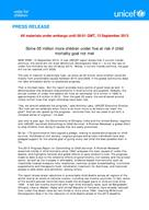 Committing to Child Survival: A Promise Renewed Progress Report 2013 - Press Documents