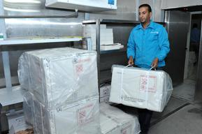 Photos: UNICEF shipment of 24,000 measles and polio vaccines arrives in Amman, Jordan