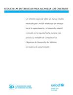 Narrowing the Gaps to Meet the Goals, Lo-Res PDF (Spanish)